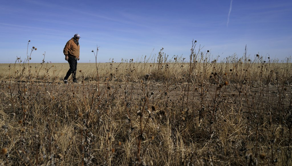 Rod Bradshaw, a Black farmer in Kansas, Jan. 13, 2021, is concerned that systemic discrimination by government agencies, farm lenders and the courts have reduced the numbers of U.S. Black farmers from about a million in 1920 to fewer than 50,000. (AP)