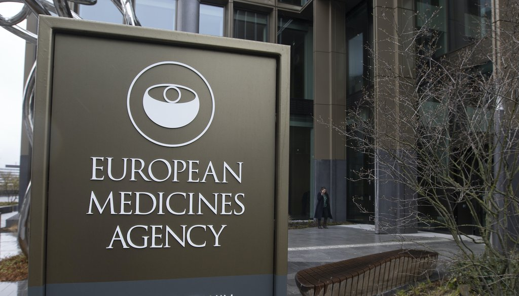 The offices of the European Medicines Agency in Amsterdam. (AP)