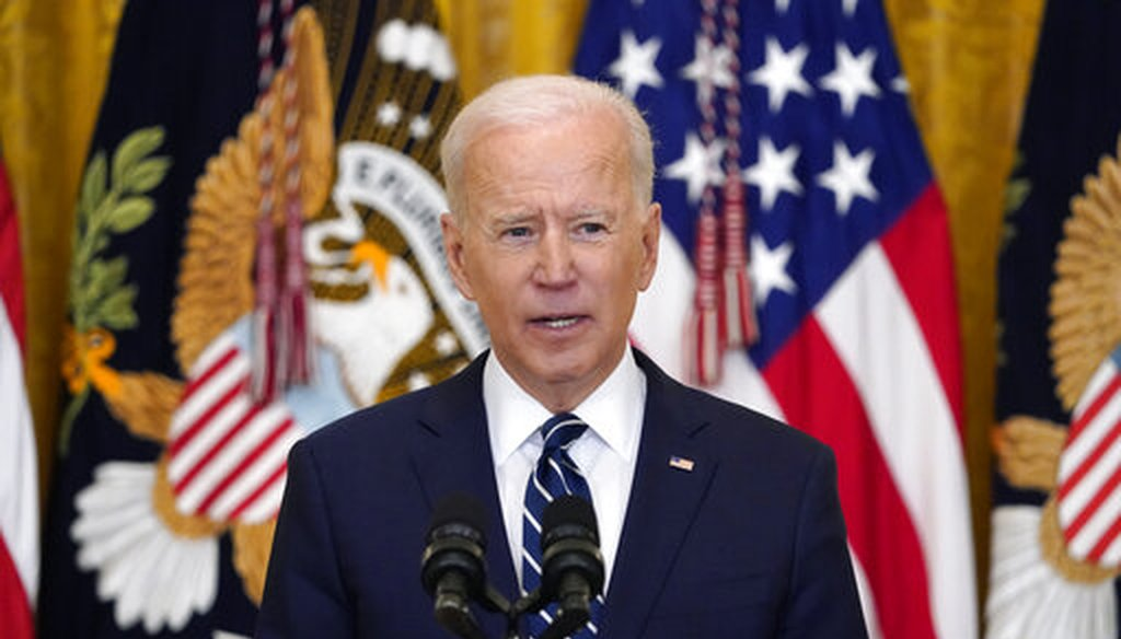 President Joe Biden speaks during a news conference at the White House on March 25, 2021. (AP)