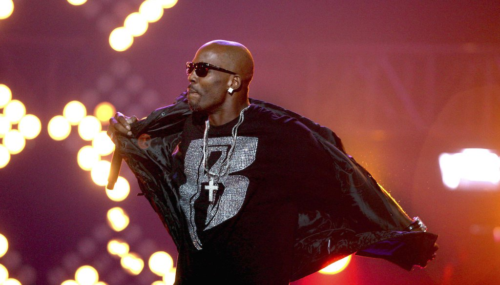 The rapper DMX, born Earl Simmons, performs during the BET Hip Hop Awards in Atlanta on Oct. 1, 2011. He died April 9 at the age of 50 in a hospital in White Plains, New York. (AP/Goldman)