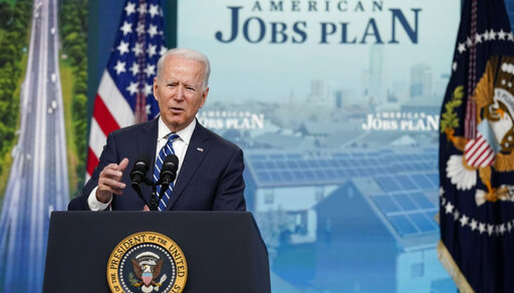 President Joe Biden speaks about the June jobs report in the South Court Auditorium on the White House campus on July 2, 2021. (AP)