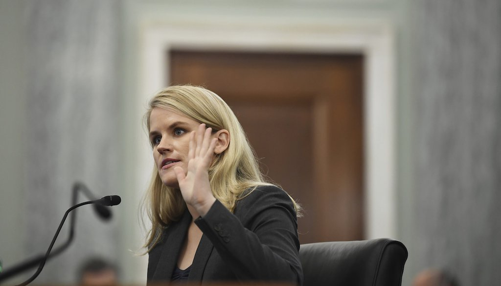 Former Facebook employee and whistleblower Frances Haugen testifies during a Senate Committee on Commerce, Science, and Transportation hearing on Capitol Hill on Oct. 5, 2021, in Washington. (AP)