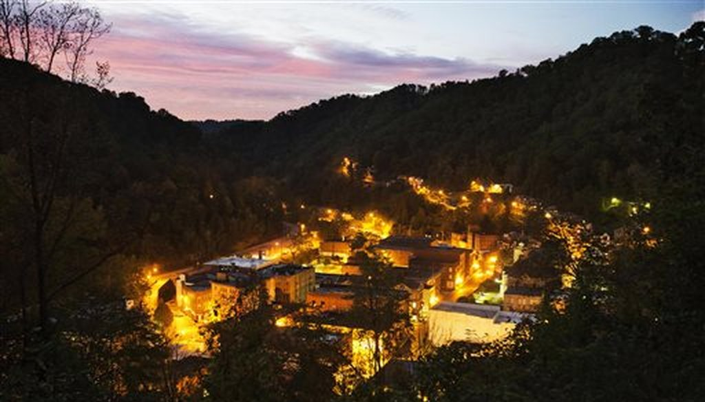 The town of Welch, W.Va., in McDowell County. (AP/David Goldman)