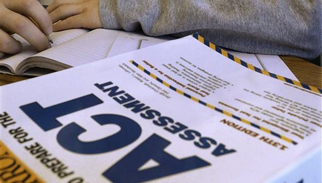 An ACT Assessment test in Springfield, Ill. (AP)