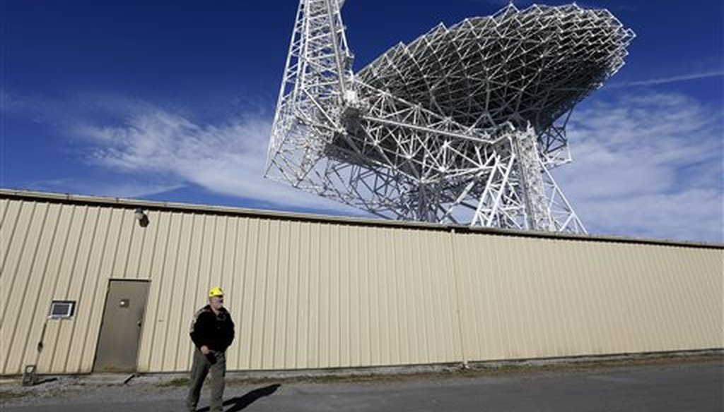 The Robert C. Byrd Green Bank Telescope in Green Bank, W.Va., the largest fully-steerable radio telescope in the world. (AP)