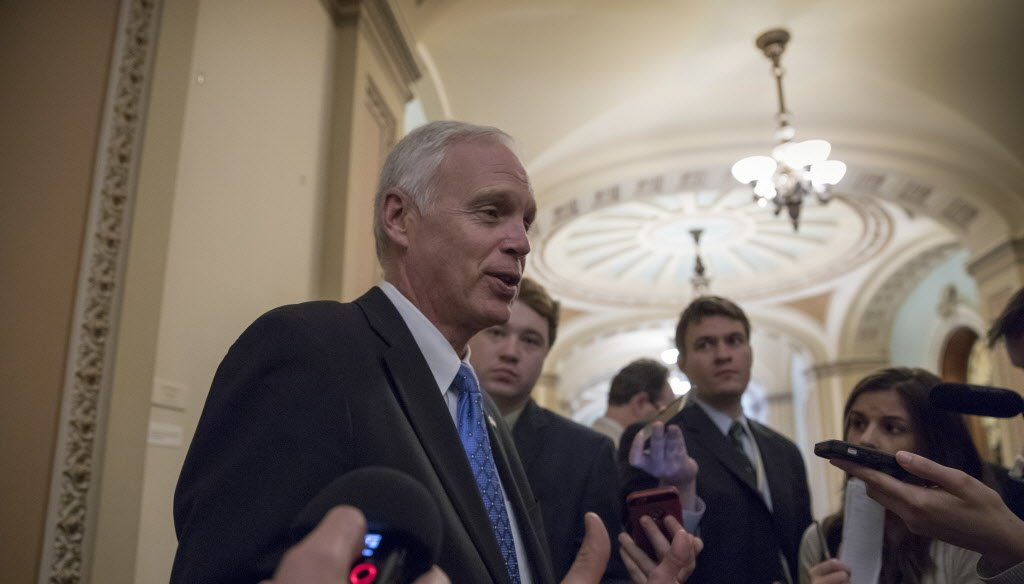 U.S. Sen. Ron Johnson, R-Wisconsin, talks about his views on the latest GOP health care bill. (Associated Press photo)