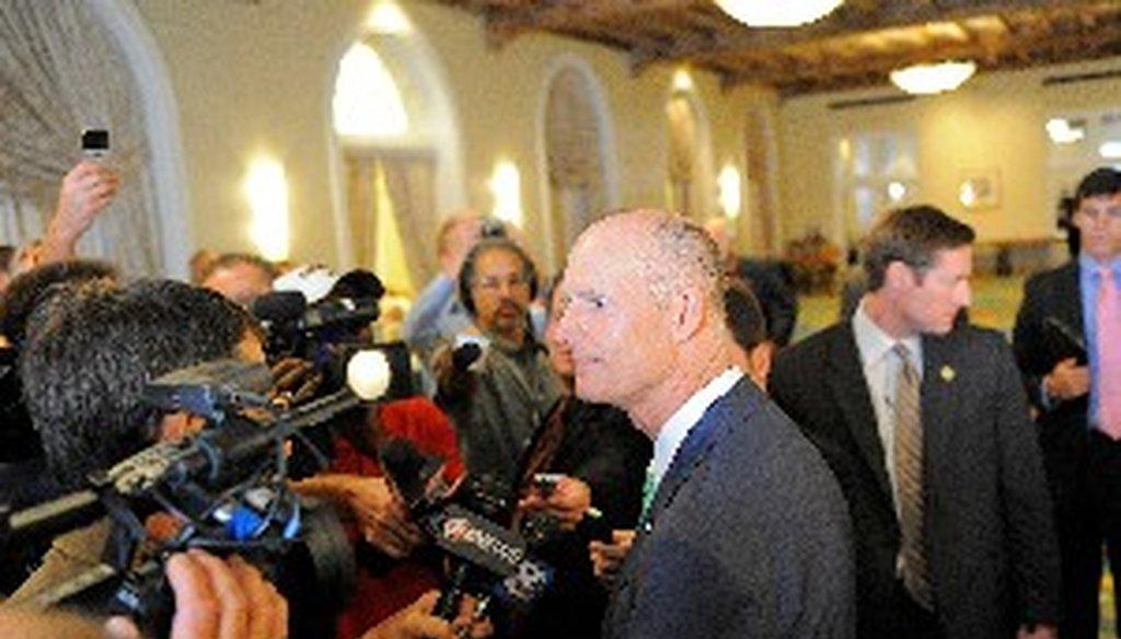 Florida Gov. Rick Scott pledged to create 700,000 jobs.