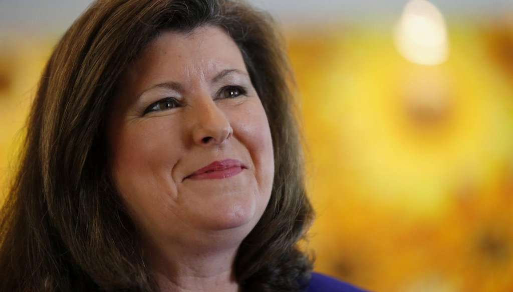 Karen Handel is one of 11 Republican candidates, five Democrats and two independents, running to succeed Health Secretary Tom Price's seat. (AP file photo)