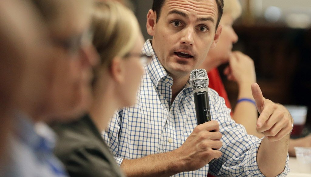 U.S. Rep. Mike Gallagher, a Republican, represents the Green Bay area in Wisconsin. He was elected in 2016. (Photo from Green Bay Press Gazette)