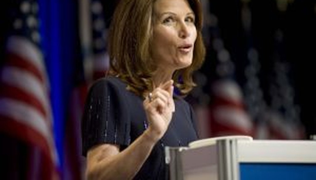 We look at Michele Bachmann's record with the Truth-O-Meter and find all Falses and Pants on Fires