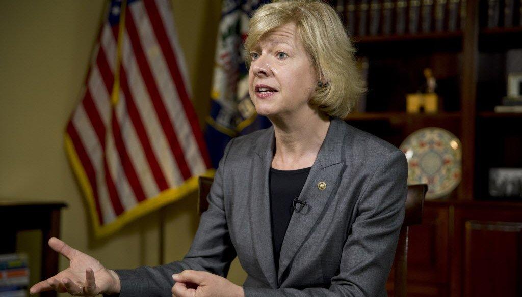 U.S. Sen. Tammy Baldwin, D-Wisconsin, has been critical of Republican actions on health care. (AP photo)