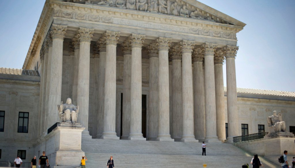 The Supreme Court in Washington D.C. on June 30, 2014.