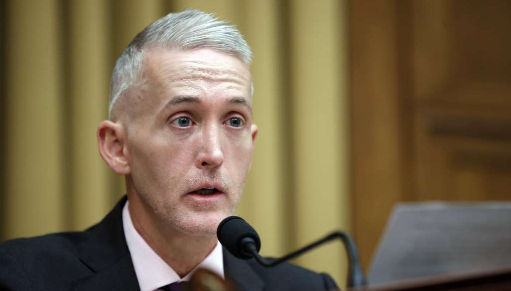 The headline on a recycled post that supported making U.S. Rep. Trey Gowdy, R-S.C., the new head of the FBI falsely said he had actually become the new director. (AP photo)