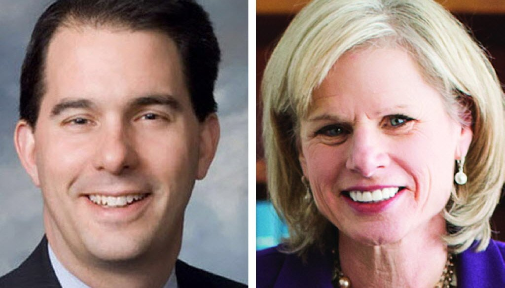 Scott Walker faces Mary Burke in the Nov. 4 election for governor.