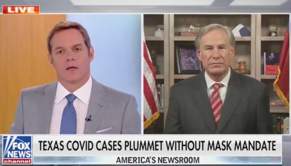 Texas Gov. Greg Abbott appears on Fox News May 18 to discuss his decision to end federal unemployment benefits for jobless Texans.