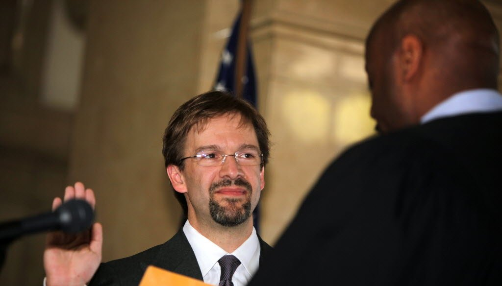 Chris Abele is sworn in during an April 2011 ceremony as Milwaukee County executive.