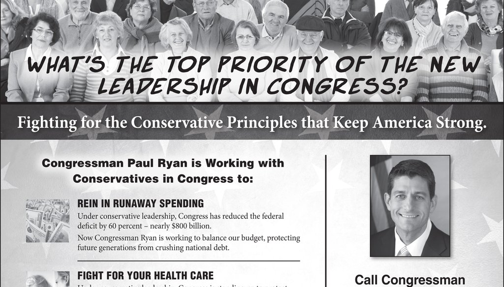 This half-page ad from the American Action Network ran Dec. 7 and 8, 2015 in the Milwaukee Journal Sentinel.