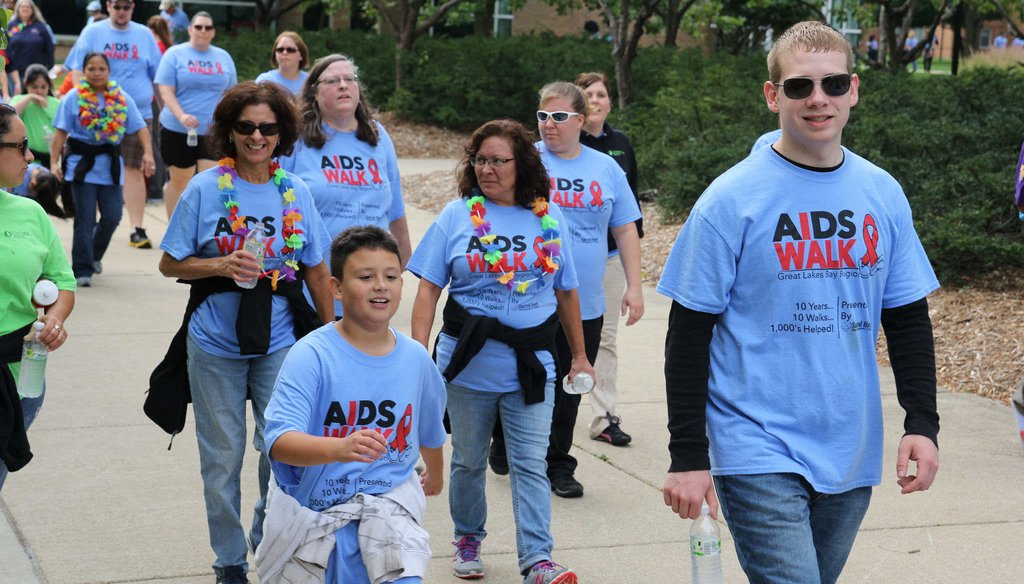 Volunteers raise funds for HIV/AIDS in 2014 in Saginaw, Michigan, while public concern has dipped. (Sacred Heart Rehabilitation Center via Flickr Creative Commons)