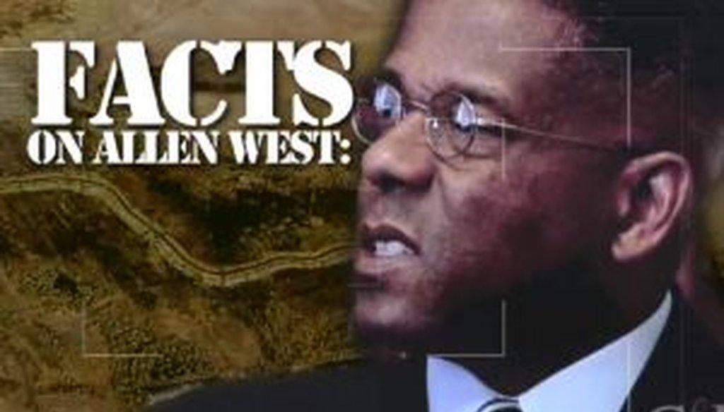 An ad from Patrick Murphy attacks Allen West.