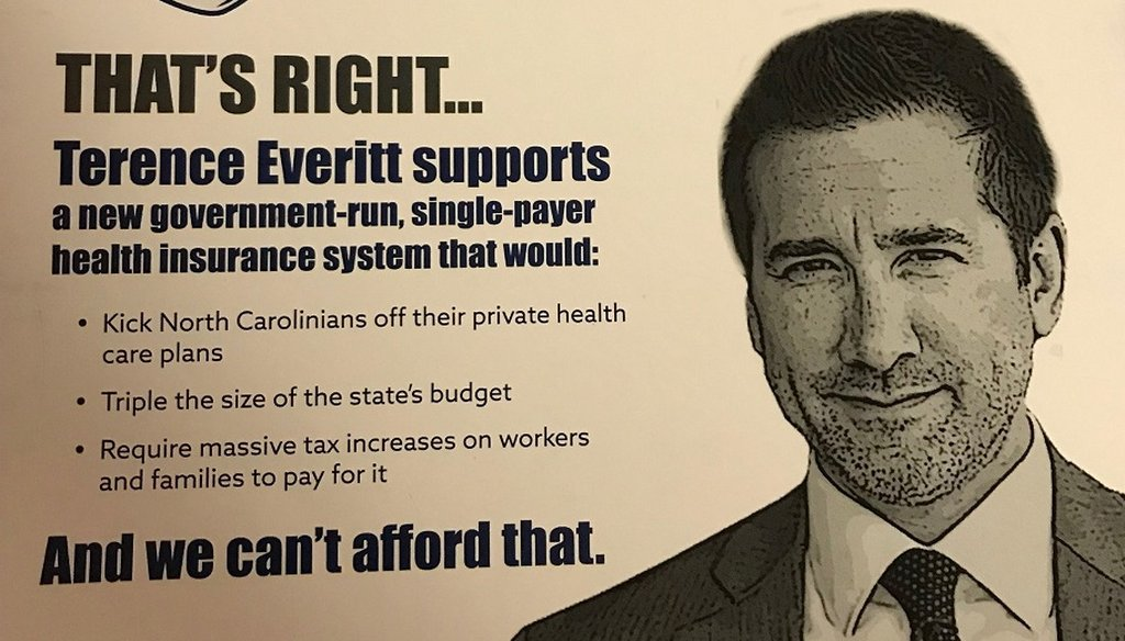 The North Carolina GOP and some of its candidates are accusing Democrats of pledging to support a health care agenda that includes single-payer health insurance.