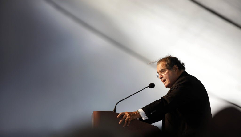 The late U.S. Supreme Court Justice Antonin Scalia, speaking here at Marquette University in Milwaukee in 2010, wrote a landmark decision on the Second Amendment in 2008. (Milwaukee Journal Sentinel photo)