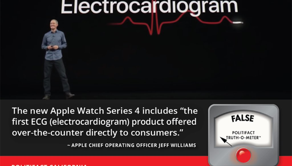 Apple COO Jeff Williams unveiled the company's Apple Watch Series 4 this week in San Francisco.