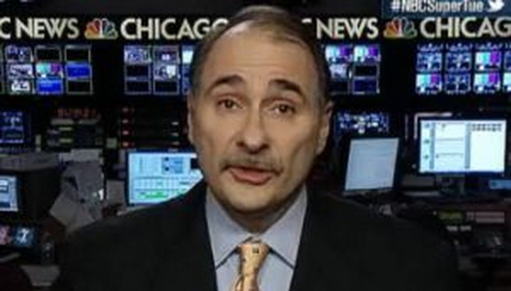 Obama campaign adviser David Axelrod said during NBC's Super Tuesday coverage that President Barack Obama, despite being unopposed, won more votes in Ohio than two Republicans combined, Mitt Romney and Rick Santorum. But Axelrod was wrong.