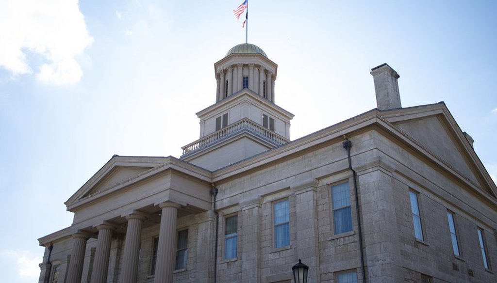 The Old Capitol Building is seen on Monday, March 1, 2021. (Raquele Decker/The Daily Iowan)