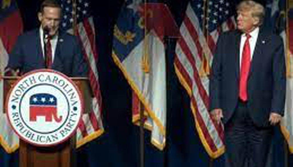 Former President Donald Trump endorsed U.S. Rep. Ted Budd in North Carolina's U.S. Senate race.