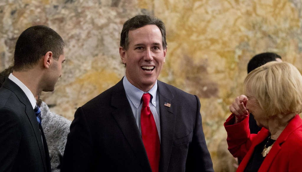 Former Sen. Rick Santorum met with supporters and top state Republicans in Harrisburg to discuss a possible 2016 candidacy. The new Pennsylvania legislature was sworn in Tuesday. MATT ROURKE / Associated Press