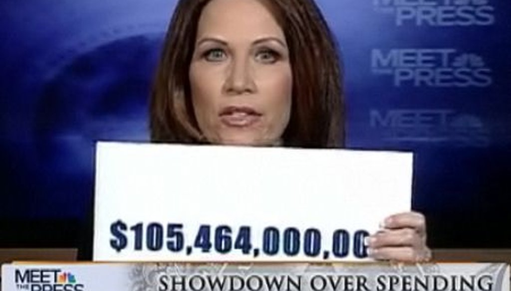 "On the March 6, 2011, edition of ""Meet the Press"", Rep. Michele Bachmann said the Democratic-backed health care bill spent $105 billion ""secretly."" We check whether she's right."