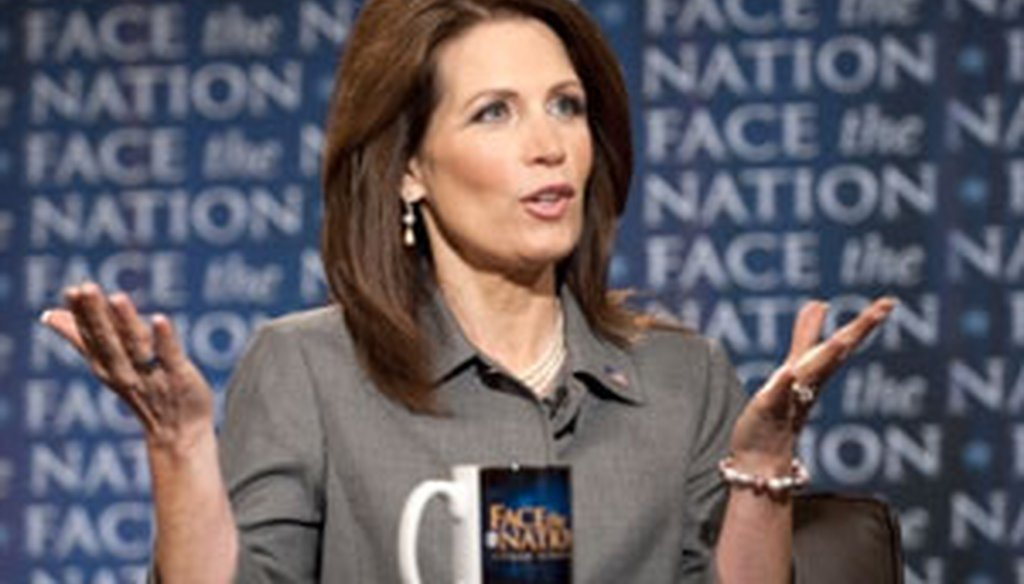 On Face the Nation, Rep. Michele Bachmann was asked about her Truth-O-Meter record.
