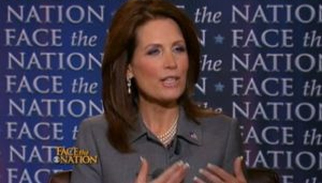 """Rep. Michele Bachmann, R-Minn., appeared on the CBS program """"Face the Nation"""" on June 26, 2011. We checked a few of her claims."""