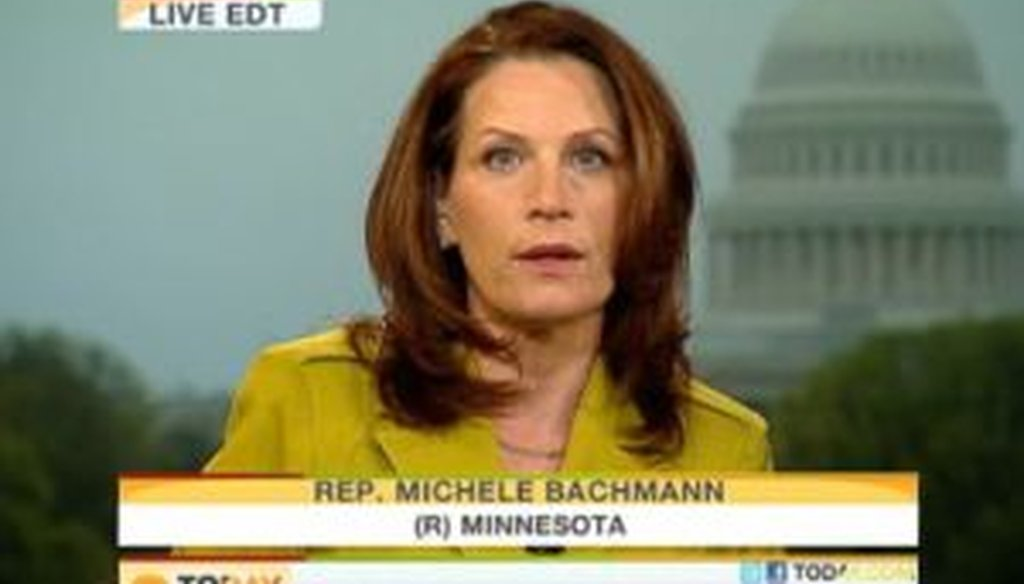"""Rep. Michele Bachmann appeared on the """"Today"""" show and said that the top 1 percent of taxpayers pay for 40 percent of all federal taxes. We checked to see if she was correct."""