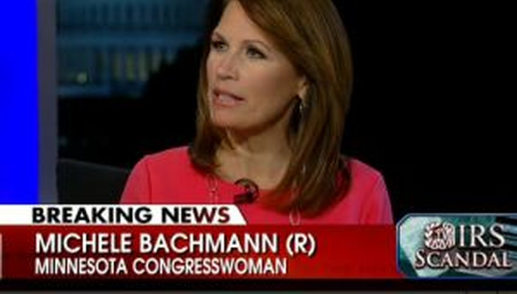 Rep. Michele Bachmann, R-Minn., warned viewers of looming problems with the Internal Revenue Service playing a role in implementing President Barack Obama's health care law. We take a closer look.