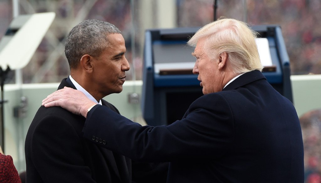 Barack Obama (left) and Donald Trump, shown here at Trump's inauguration, are at odds over Obama's Affordable Care Act, which Trump is moving to repeal and replace. (Associated Press)