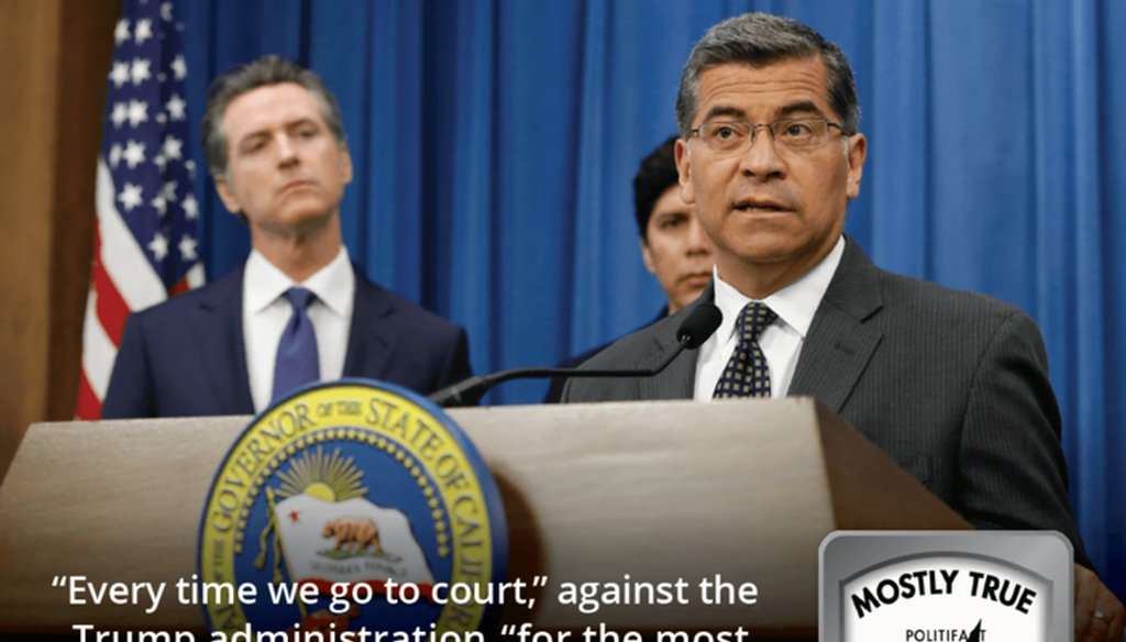 California Attorney General Xavier Becerra has claimed California is winning in court against the Trump administration. (AP Photo/Rich Pedroncelli)