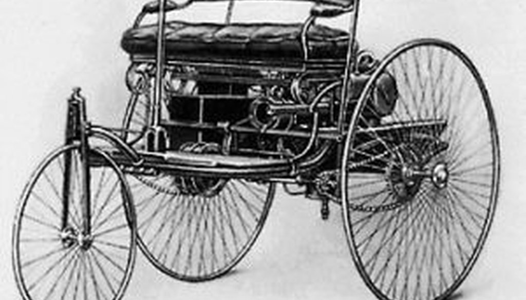 The Benz Patent-Motorwagen, built in 1886. Many consider it the first automobile -- and it came from Germany, not the United States.