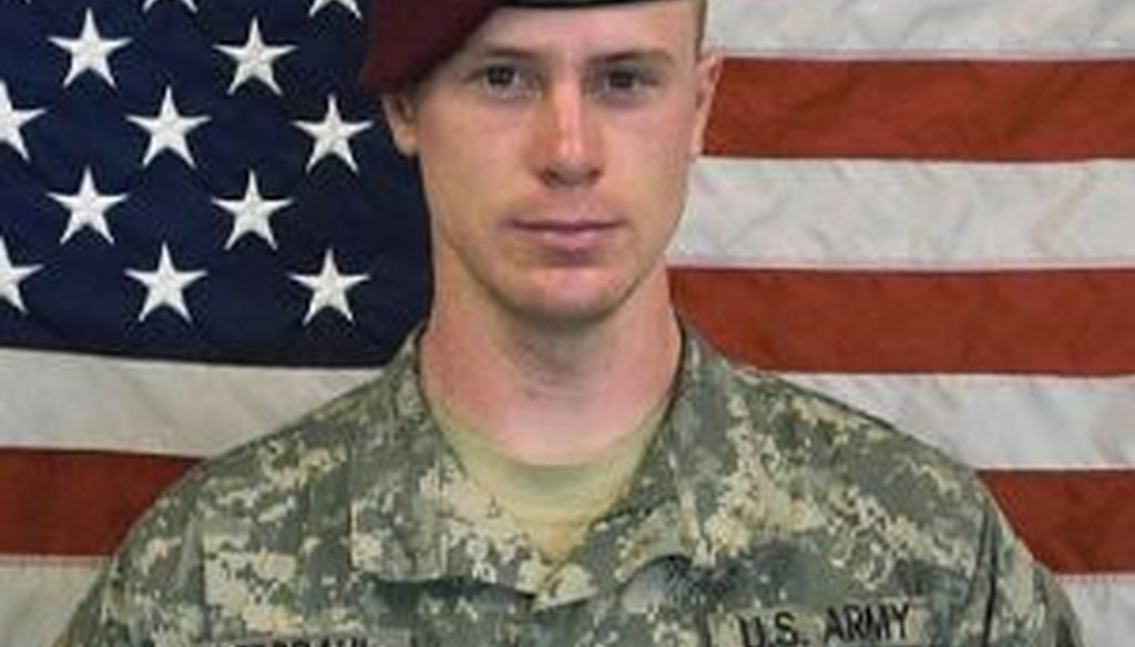 An undated image by the U.S. Army showing Sgt. Bowe Bergdahl, who was recently released after years of being held by the Taliban.