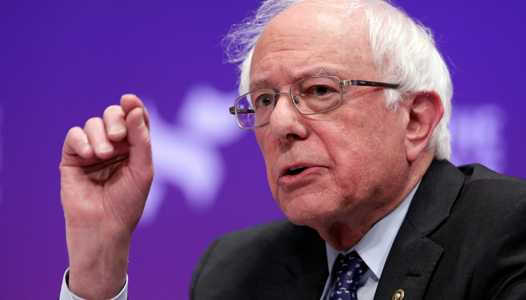 Bernie Sanders says Wisconsin payday loans have an average annual rate of 574% (AP Photo/Michael Wyke, File)