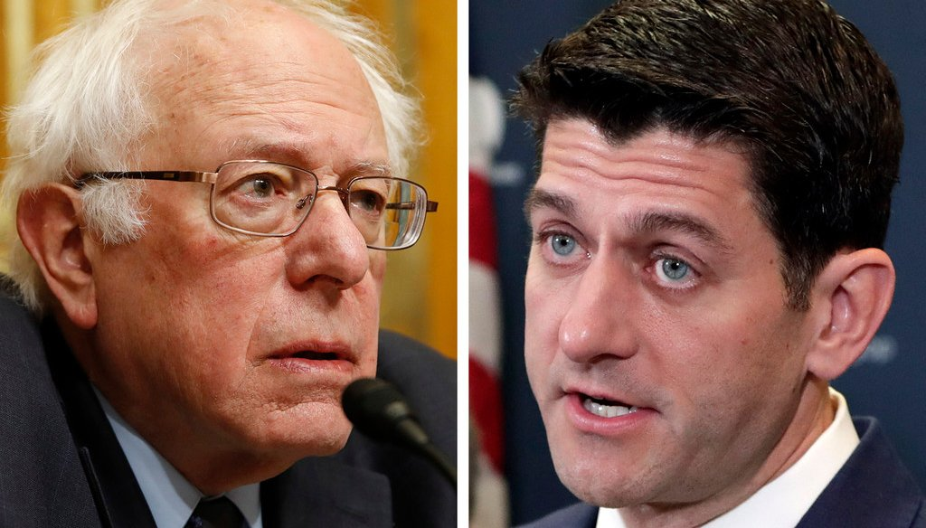 Bernie Sanders (left) is campaigning for Randy Bryce, one of the Democrats running for the U.S. House seat held by Paul Ryan (right).
