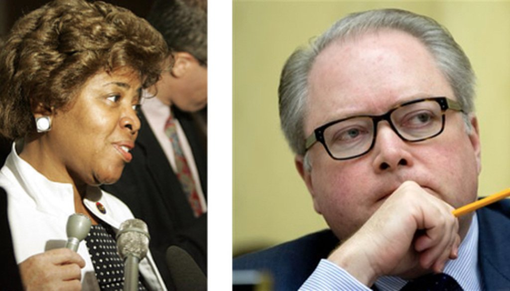 Linda Coleman, left, is challenging Republican incumbent George Holding in North Carolina's 2nd Congressional District.