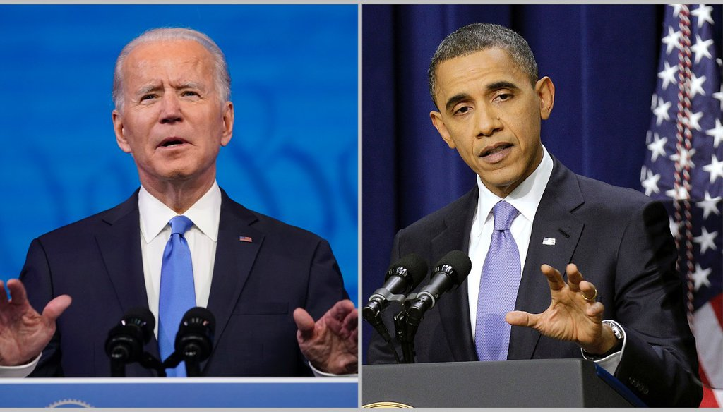 Former Vice President Joe Biden won millions more votes in 2020 than Barack Obama did in 2008, but carried many fewer counties. (AP photos)