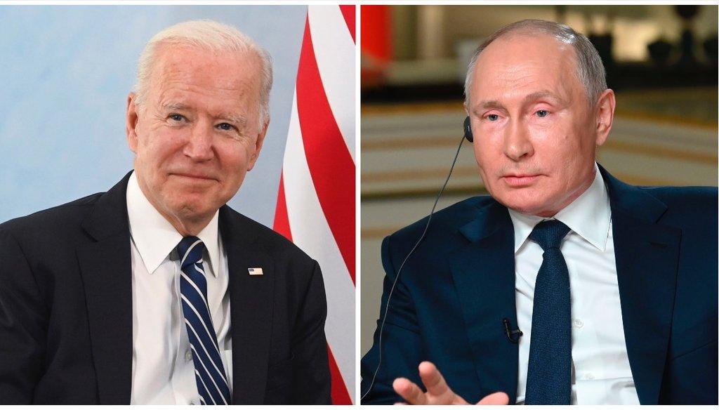 President Joe Biden and Russian President Vladimir Putin to meet June 16 in Geneva, Switzerland. (AP)