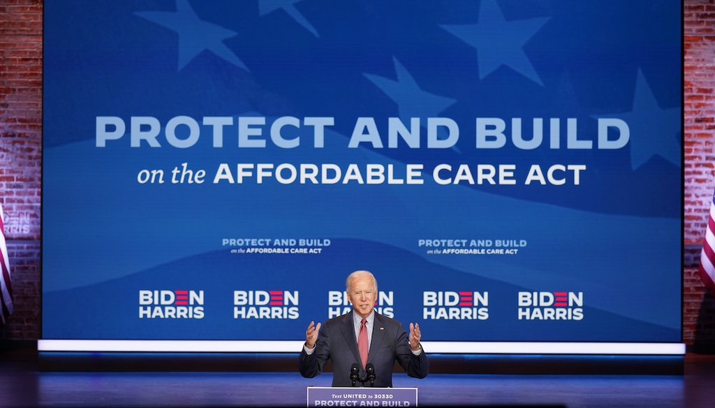Democratic presidential candidate former Vice President Joe Biden speaks about COVID-19 and health care at The Queen theater, Wednesday, Oct. 28, 2020, in Wilmington, Del. (AP)