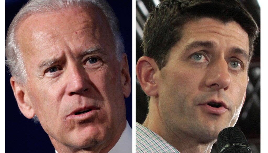 Vice President Joe Biden squares off Thursday in a debate with opponent Paul Ryan.