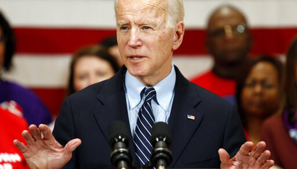 Democratic presidential candidate former Vice President Joe Biden speaks at a campaign event in Columbus, Ohio, Tuesday, March 10, 2020. (AP)