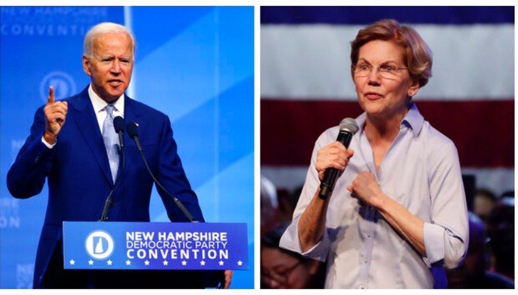 Former Vice President Joe Biden and Sen. Elizabeth Warren bring contrasting approaches to the Democratic primary. (AP/Robert F. Bukaty, Matt York)
