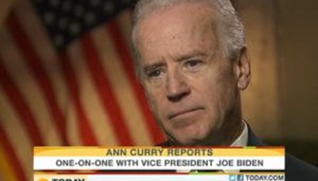"""NBC's Ann Curry interviewed Vice President Joe Biden in Iraq on the Dec. 1, 2011, edition of """"Today."""""""