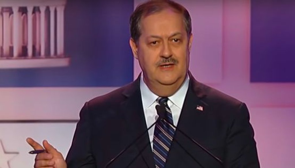 Former energy company CEO Don Blankenship was one of three candidates to participate in a Republican Senate debate in West Virginia on May 1, 2018.